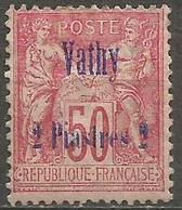 Vathy - 1893 Sage 2pi/50c MH *    Mi 5  Sc 6 - Unused Stamps