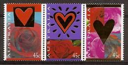 AUSTRALIA 1995 - Valentine's Day - GOLD IMPRINT 3-strip Mi 1455-57 MNH ** Cv€3,50 K423 - Ungebraucht
