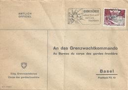 "Officiel Brief  ""Grenzwachtkorps""  Thun - Basel             1956 - Svizzera"
