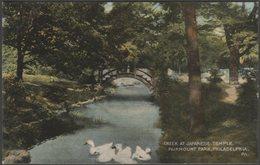 Creek At Japanese Temple, Fairmount Park, Philadelphia, Pennsylvania, C.1910 - Postcard - Philadelphia