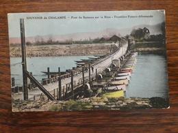 L1/45 Chalampé . Souvenir De Chalampé . Pont De Bâteaux Sur Le Rhin , Frontière Franco Allemande . - Chalampé