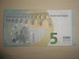 N009 Austria Österreich Autriche 5 Euro Draghi  Serial Number: NA Used Gebraucht - EURO