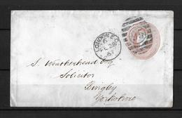 1867 Great Britain → QV 1d Pink PS Letter London E.C. Cover To Bingley, Yorkshire - 1840-1901 (Victoria)