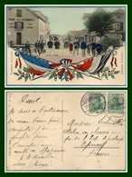 CPA Frontière Avricourt  Voy Reich 1911 Grosz Moyeuvre (Grande Moselle) Tabac Drapeau BE - France