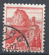 Switzerland 1938. Scott #243 (U) Lake Lugano * - Oblitérés