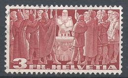 Switzerland 1938. Scott #244 (U) First Federal Pact, 1291 * - Oblitérés