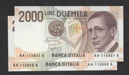 LIRE 2.000  MARCONI TRIPLA A  - FDS - [ 2] 1946-… : Republiek