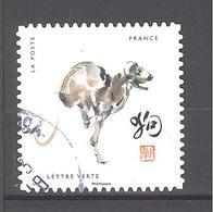 France Autoadhésif Oblitéré N°1384 (12 Signes Astrologiques Chinois) (cachet Rond) - France