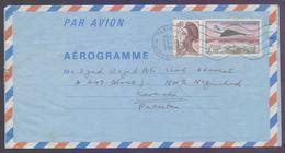 FRANCE Postal History, 2.70 Aerogramme Stationery, Used 1982 - Postal Stamped Stationery