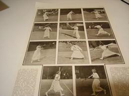 ANCIENNE PHOTO SILHOUETTE FEMININE AU CHAMPIONNAT DE TENNIS 1912 - Tennis
