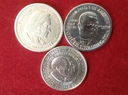 3 Münzen Half Dollar USA 1892, 1946, 1952 Silber Kolumbus Booker Washington - Federal Issues