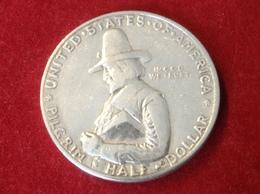 Münze Half Dollar USA Silber 1920 William Bradford Auswanderschiff Mayflower - Federal Issues