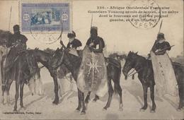 Sur CPA AOF Sénégal Guerriers Touaregs Armés YT 60 CAD Dakar Sénégal  Novembre 1920 - A.O.F. (1934-1959)