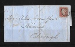 1849 Great Britain -1d Red Imperf London Horizontal Duplex 9 Cover To Edinburgh - 1840-1901 (Victoria)