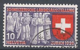 Switzerland 1939. Scott #250 (U) Deputation Of Trades And Professions * - Oblitérés