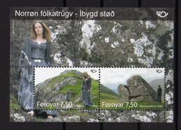 Faroe Feroe Føroyar 2008 NORDEN Mythologie Nordique Lieus Mythiques Joint Issue M/S - Emisiones Comunes