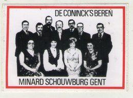 AUTOCOLLANT . STICKER .GENT . AUFKLEBER . DE CONINCK'S  BEREN . MINARD SCHOUWBURG  GENT . GAND . - Stickers