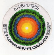 AUTOCOLLANT . STICKER .GENT .1985 . GENTSE CENTER . FLORALIEN - FLORALIES GANTOISES OF GHENT - Stickers