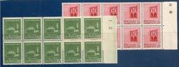 1944 Italia Italy RSI MONUMENTI I° Fil. Corona 20c+25c (496/97) In Blocco Di 10 MNH** R.S.I. - 4. 1944-45 Social Republic