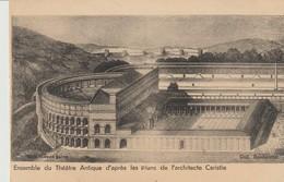 CPA -  ORANGE - ENSEMBLE DU THÉÂTRE ANTIQUE D'APRÈS LES PLANS DE L'ARCHITECTE CARISTIE - BOISBEUMET - - Orange