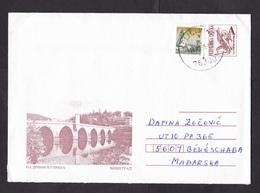 Bosnia - Serb Republic: Stationery Cover 1998, Extra Stamp, Bridge, Autonomous Territory, Rare Real Use (damage At Back) - Bosnien-Herzegowina