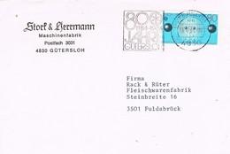 28764. Carta GÜTERSLOH (Alemania Federal) 1984. 800 Jahre Gütersloh - [7] República Federal