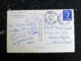 ORCINES - OBSERVATOIRE DU PUY DE DOME - CACHET ROND MANUEL SUR MARIANNE MULLER - DOME SUD ROUTE ET VOIE ROMAINE - Marcophilie (Lettres)