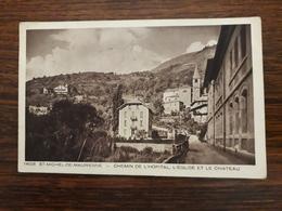 Saint Michel De Maurienne . Chemin De L'hôpital , L'église , Et Le Château. - Saint Michel De Maurienne