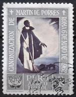 PERÚ 1965 Airmail - Canonization Of St. Martin De Porras 1962 - Paintings. USADO - USED. - Peru