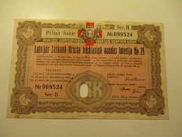 LATVIA OLD RED CROSS LOTTERY TICKET , 0 - Lottery Tickets