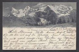 Schweiz Suisse 1904: Wengernalp, Eiger, Mönch & Jungfrau Mit O WENGERNALP-SCHEIDEGG  22.VII.04 - BE Berne