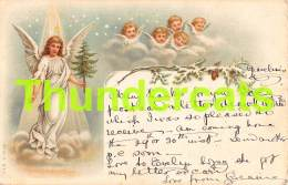 CPA LITHO 1902 A & M B 102 ANGE ANGELOT LITHO CARD ANGEL CUPID - Anges