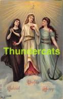 CPA LITHO FEMMES  ANGE ANGEL LOVE HOPE FAITH LADIES - Anges