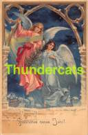 CPA LITHO ANGE BONNE ANNEE LITHO CARD ANGEL NEW YEAR - Anges