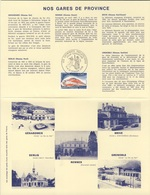 France Rep. Française 1978 Encartage - Gares De Province / Railway Station / Bahnhof / Treinstation - Treinen