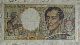 Billet Banque De France 200 Francs Montesquieu 1992 Série K.101 N°866309 - 200 F 1981-1994 ''Montesquieu''