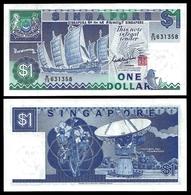 Singapore 1 DOLLAR ND 1987 P 18a UNC - Singapour