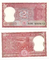 India - 2 Rupees UNC Pick 53Ac W/holes Lemberg-Zp - India