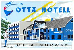 "D7823 "" HOTEL OTTA -  OTTA -NORWAY"" ETICHETTA ORIGINALE - ORIGINAL LABEL - - Adesivi Di Alberghi"