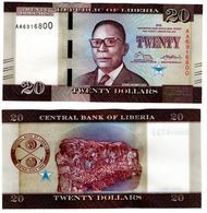 Liberia - 20 Dollars 2016 UNC Lemberg-Zp - Liberia