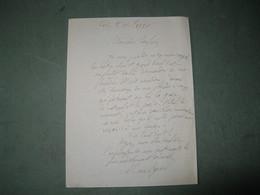 LETTRE AUTOGRAPHE SIGNEE DE HAN RYNER 1920 PHILOSOPHE ANARCHISTE PACIFISTE BANQUET PAUL FORT - Autographes