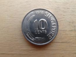 Singapour  10  Cents  1981   Km 3 - Singapour