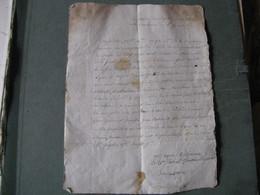 DOCUMENT MANUSCRIT SEQUESTRE PRISONS REVOLTE LYON FAMILLE JULLIEN DE VILLENEUVE 1793 Signé - Documentos Históricos