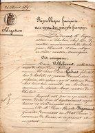 ACTE NOTARIÉ . CHALAIS & SAINT-AULAYE . FAMILLES GADRAT, VILLEBONNET, CERISIER.ROY, BOUTON, BÉGASSEAUD  - Réf. N°77F - - Manuscripts
