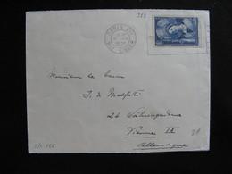 S/L 266 - TB Enveloppe Affranchie Avec N° 388;  De Paris Pour L'Allemagne  ( 16/08/1938) - Postmark Collection (Covers)
