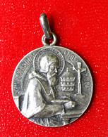 """Pendentif Médaille Religieuse Ancienne Argent 800 """"Saint Léon"""" Silver Religious Medal - Religión & Esoterismo"""