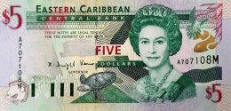 East Caribbean States 5 Dollars, P-37m 2000 UNC - Caraïbes Orientales