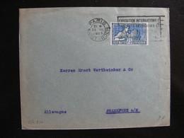S/L 270 - TB Enveloppe Affranchie Avec N° 214;  De Paris Pour L'Allemagne  ( 23/03/1925) - Postmark Collection (Covers)