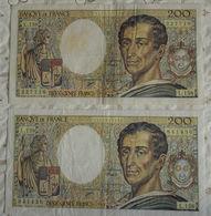 Billet Banque De France Paire 200 Francs Montesquieu 1994 L.158 N°227718/841436. - 1962-1997 ''Francs''