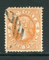 VICTORIA- Y&T N°121- Oblitéré (défaut Angle Supérieur Gauche) - Used Stamps